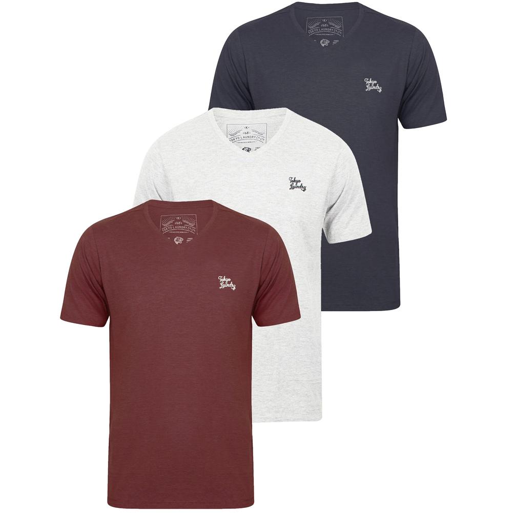 tokyo laundry herren 3er pack t shirts sommer shirt tee. Black Bedroom Furniture Sets. Home Design Ideas