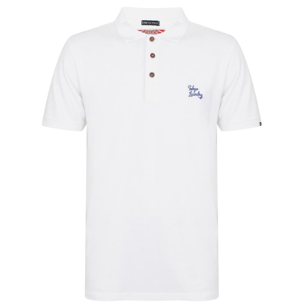 Tokyo-Laundry-Cotton-Spacedye-Pique-Polo-Shirt-Herren-Business-Polo-Shirt-Hemd