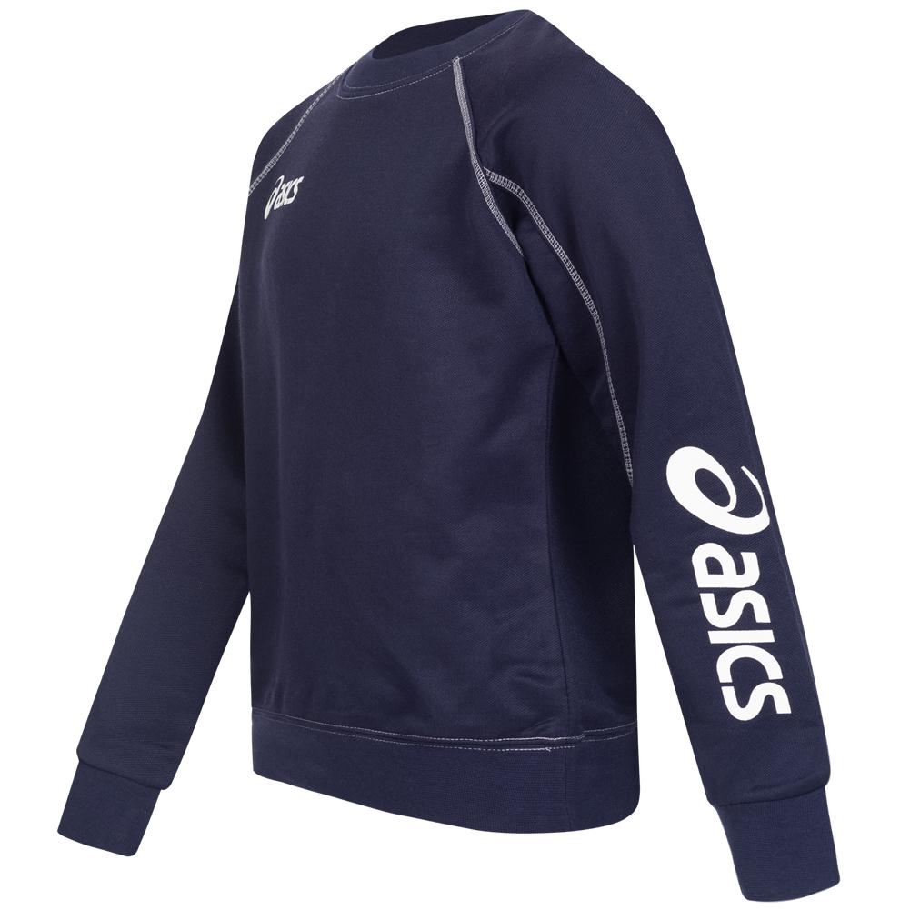 Details about Asics Sweat Alpha Children's Sweatshirt Sports Pullover White Black 2024XZ New