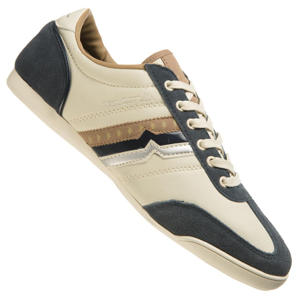Kappa Donato Herren Schuhe Casual Retro Sneaker beige wei 3024FF0A neu