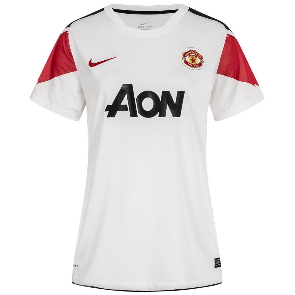 Details zu Manchester United FC Nike Damen Auswärts Fußball Trikot 382487 105 weiß neu