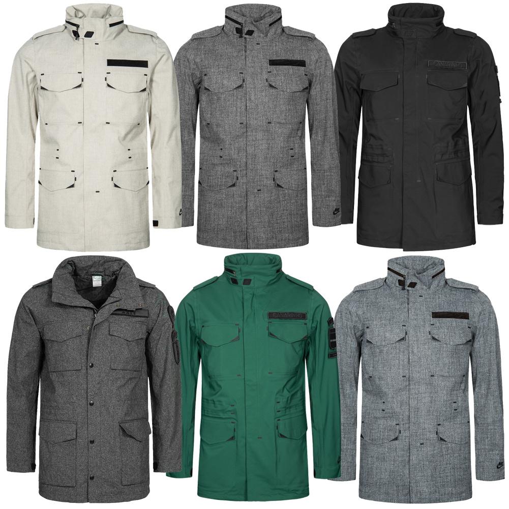 Nike Wool M 65 Herren Jacke Freizeit Jacket grau grün