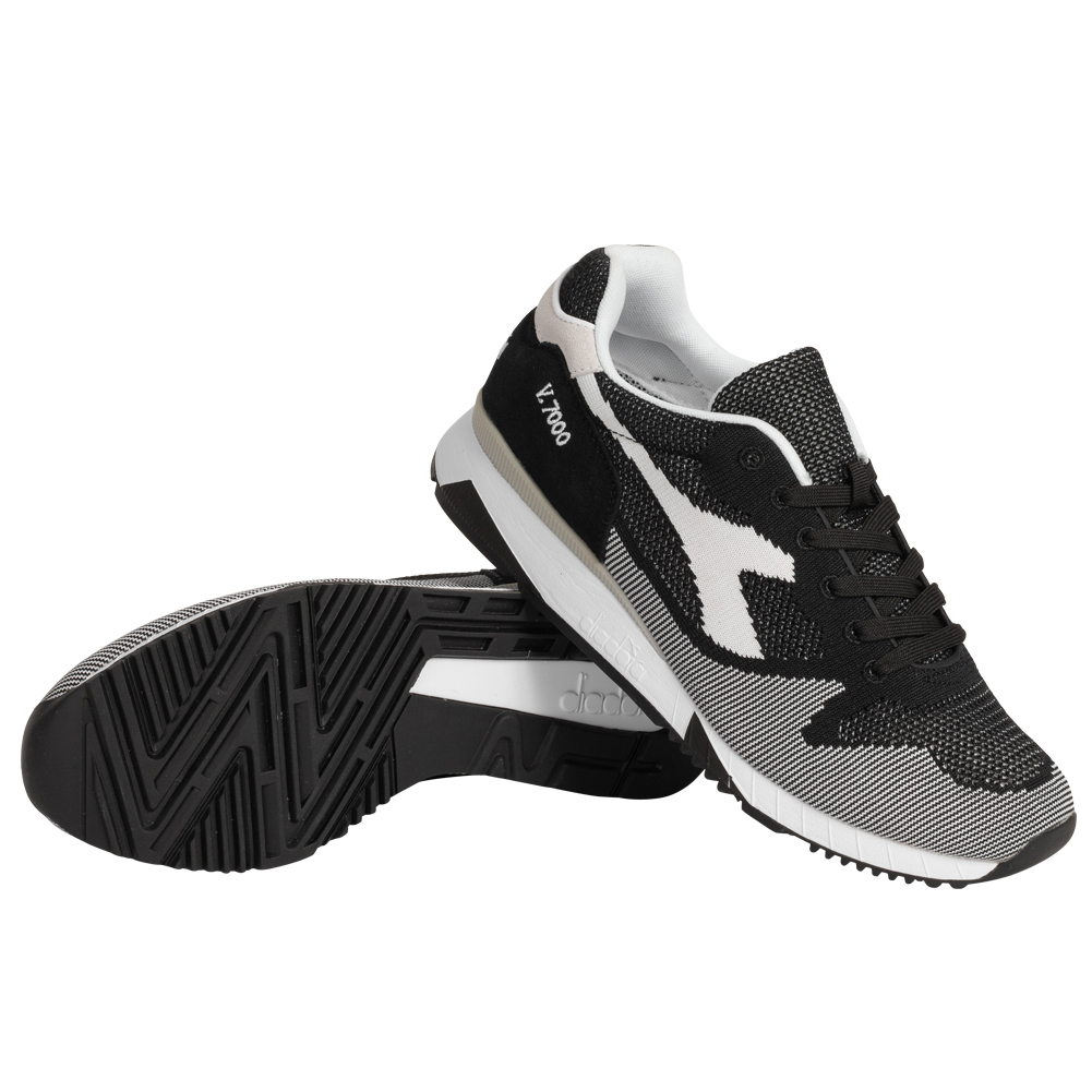 Diadora V7000 Weave Herren Sneaker Sport Schuhe 501.170476 schwarz braun neu