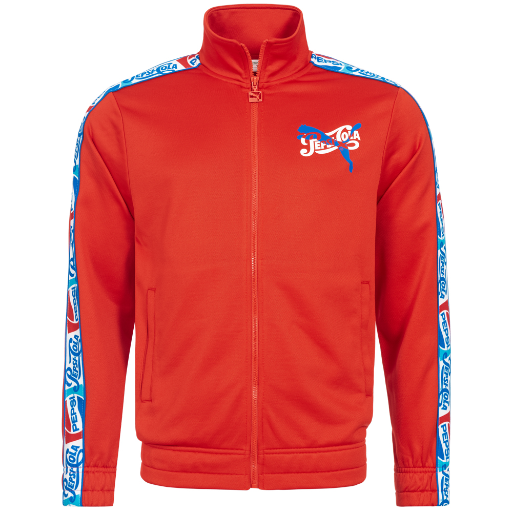 Detalles de Puma X Pepsi Hombre Track Top Chaqueta Deportiva Rojo 579268 02 Nuevo