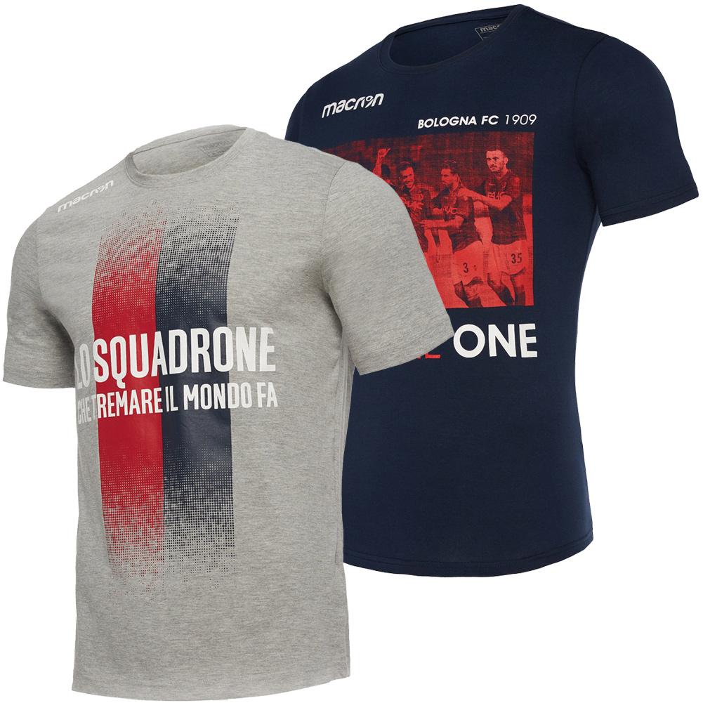 Dettagli su FC Bologna Macron Uomo Fan Calcio Sport tè Allenamento Top T Shirt Nuovo mostra il titolo originale