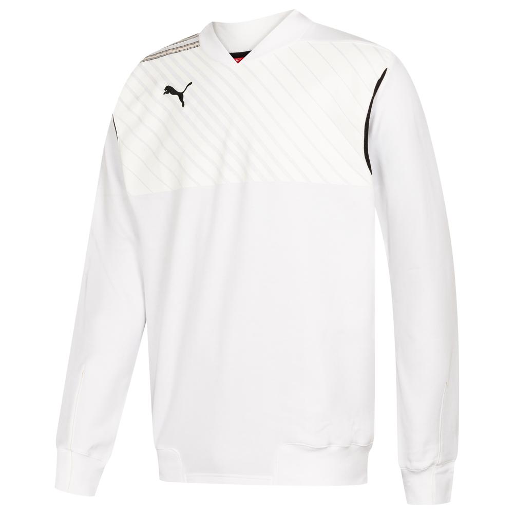Details zu PUMA King Herren Trainings Fußball Sport Fitness Sweatshirt 651415 04 weiß neu