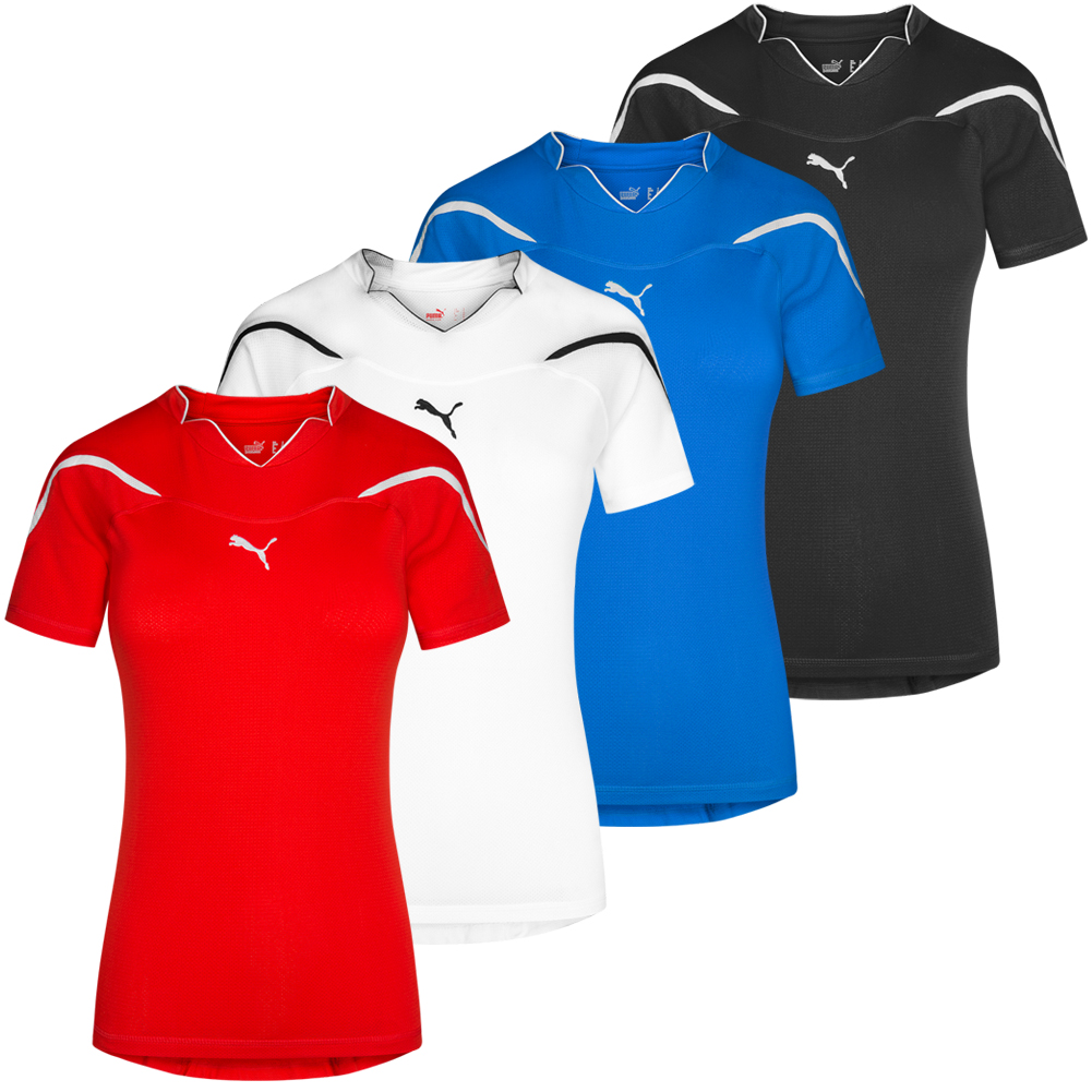 Details about Puma Powercat 1.10 Women's Shirt Sport Jersey Fitness Training Shirt 700755 New