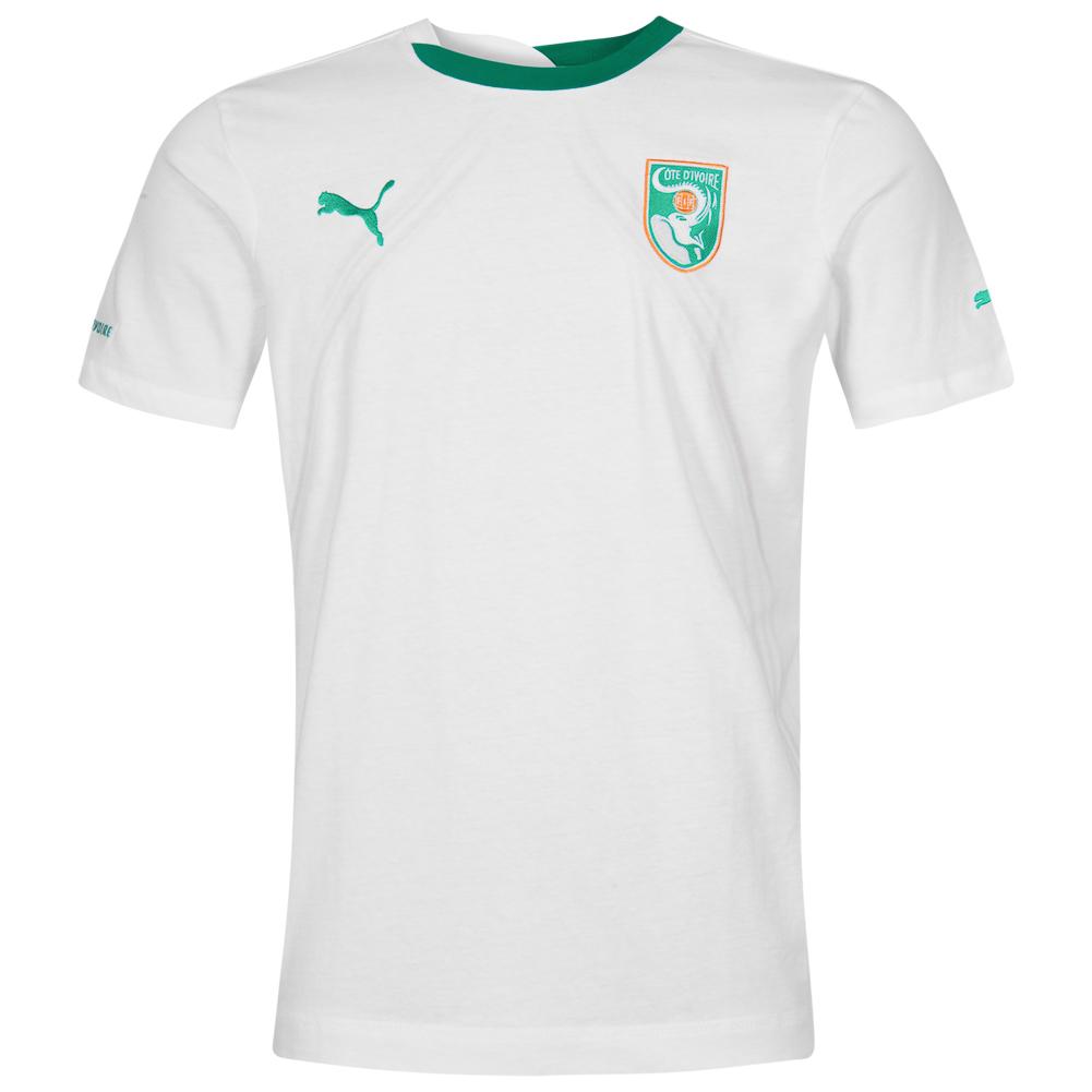Costa-de-marfil-Puma-caballero-senores-entrenamiento-camiseta-Jersey-futbol-736926-nuevo