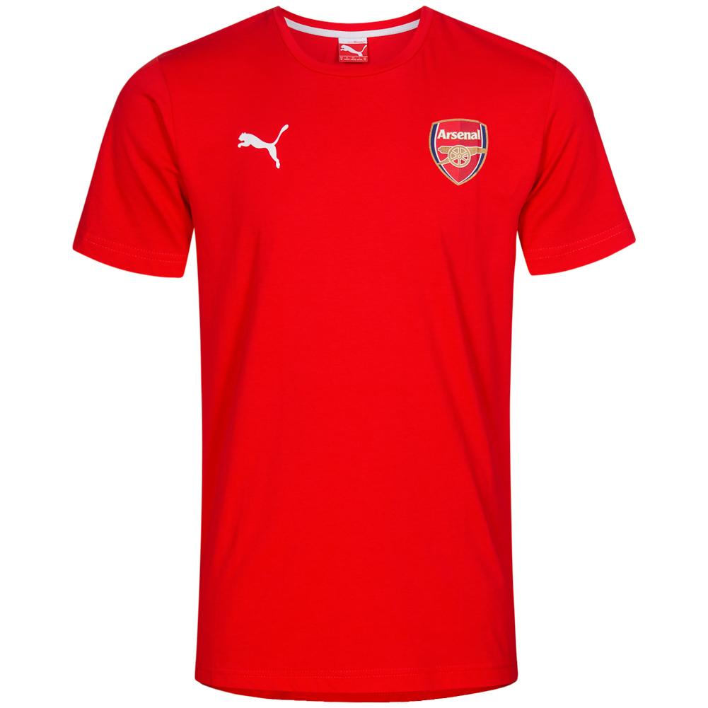 Arsenal-fc-london-puma-fan-badge-senores-camisa-t-shirt-gunners-futbol-S-M-L-nuevo