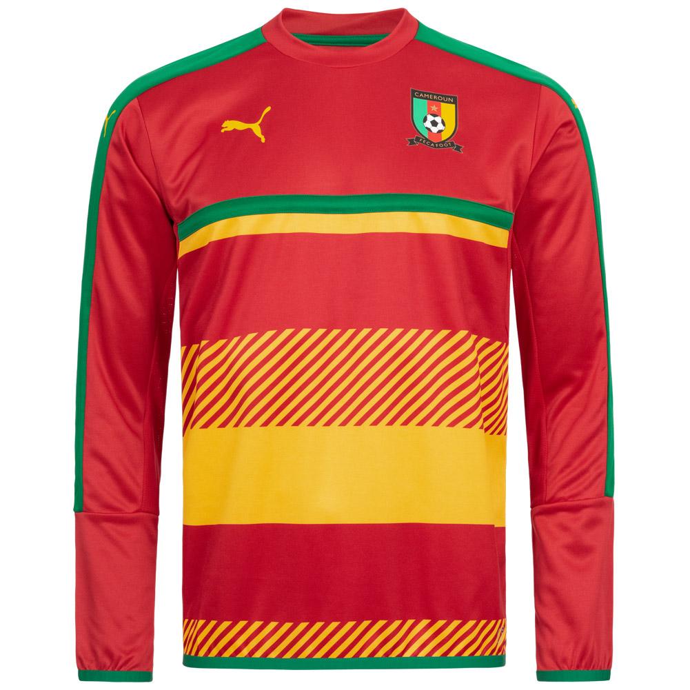 Details about Cameroon Puma Mens Fan Football Training Sweatshirt Size M XL 748539 02 NEW show original title