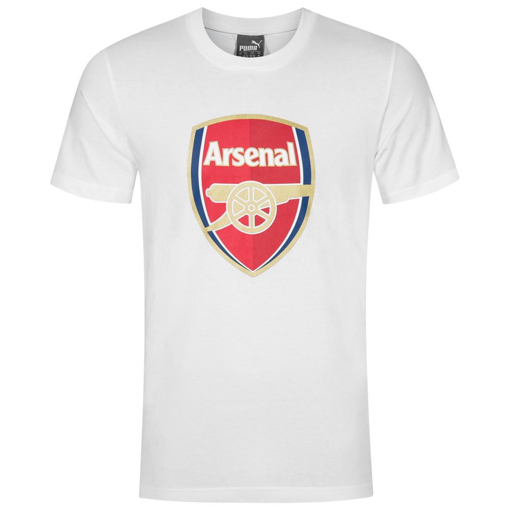 Details zu FC Arsenal London PUMA Fan Fußball Tee Herren T Shirt weiß 749297 05 neu