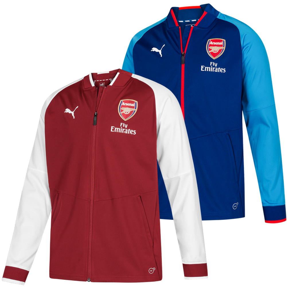 Details zu Arsenal London PUMA Herren Stadion Fußball Trainings Sport Jacke 752656 neu