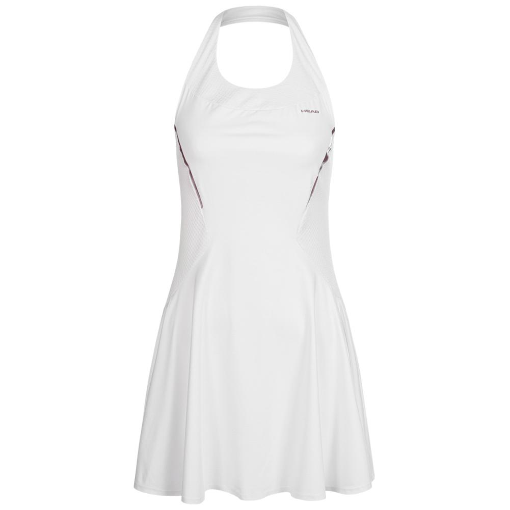 details zu head performance damen freizeit tennis kleid kurz mit bh  814059-wh weiß neu