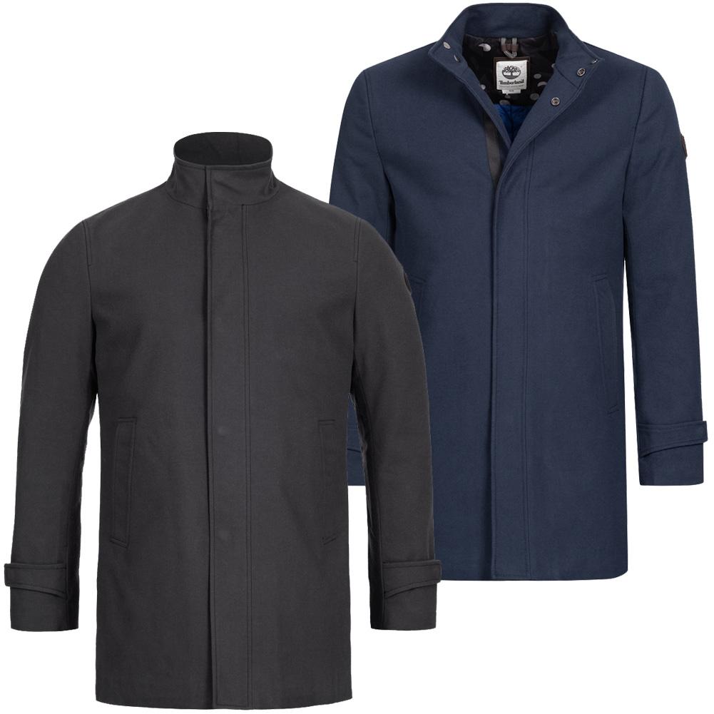Details zu Timberland Wool Like Coat Herren Mantel Freizeit Jacke schwarz blau A1N31 neu