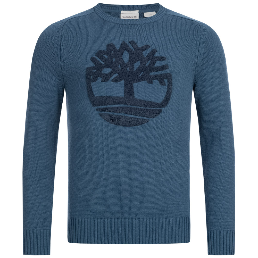 Details about Timberland Slim Fit River Textured Merino Mens Sweatshirt A1OXL 288 Blue NEW show original title