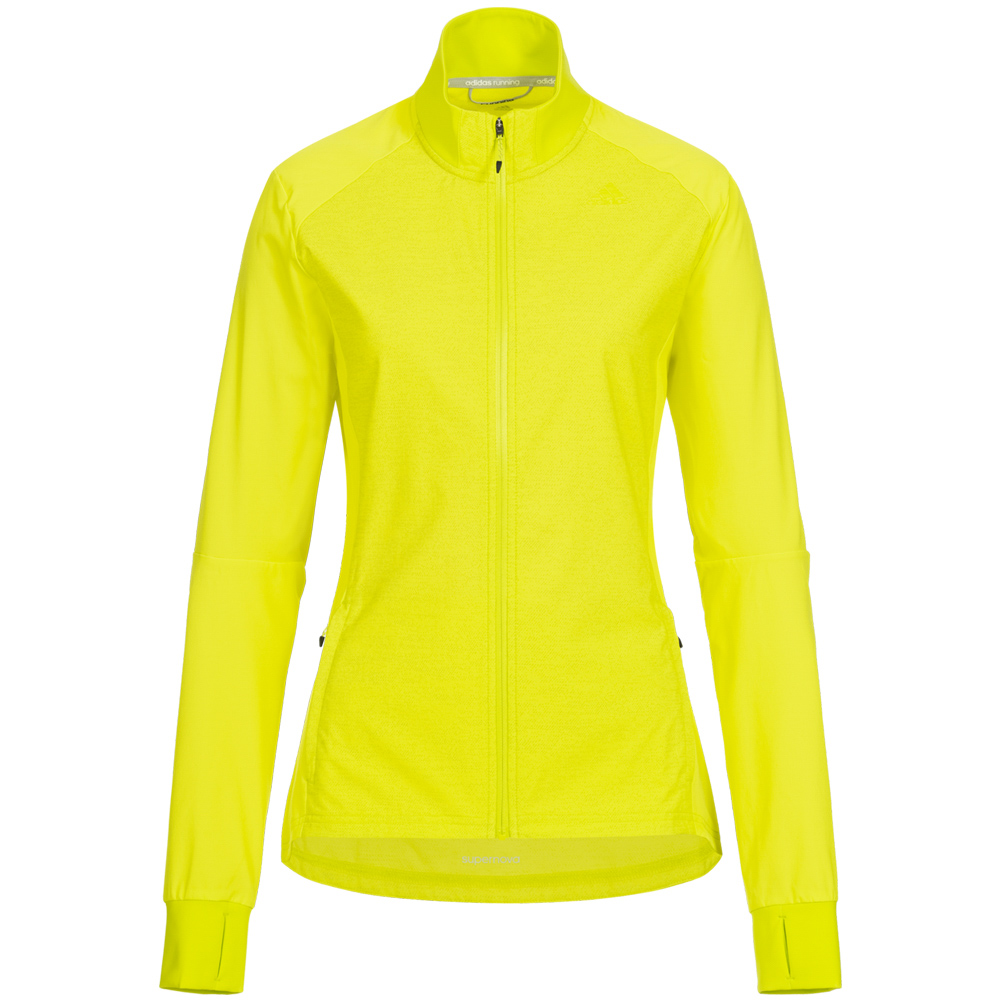 Details about Adidas Supernova Storm Women Sport Training Casual Jacket B43386 Yellow New