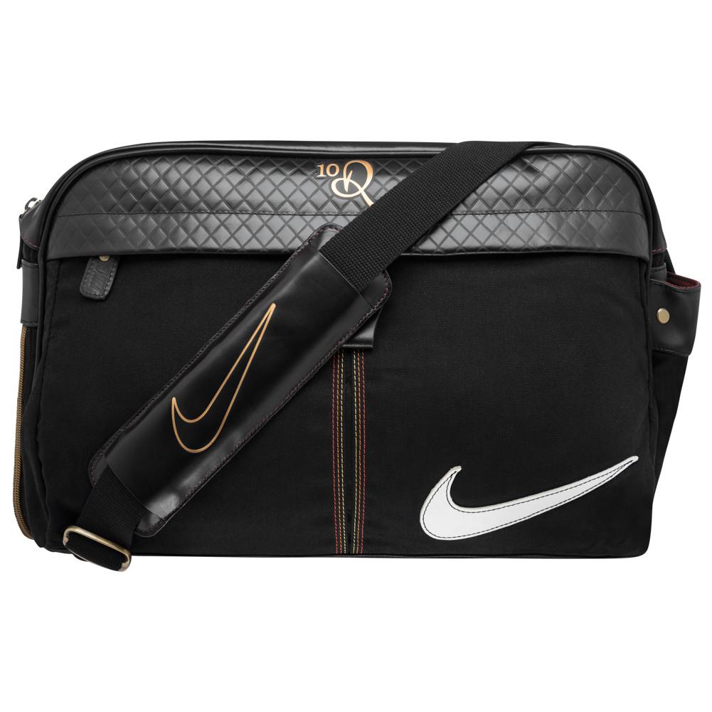 Nike R10 Ronaldinho Messenger Bag Borsa A Tracolla In Pelle Ba2590-058 Nero Nuovo-mostra Il Titolo Originale
