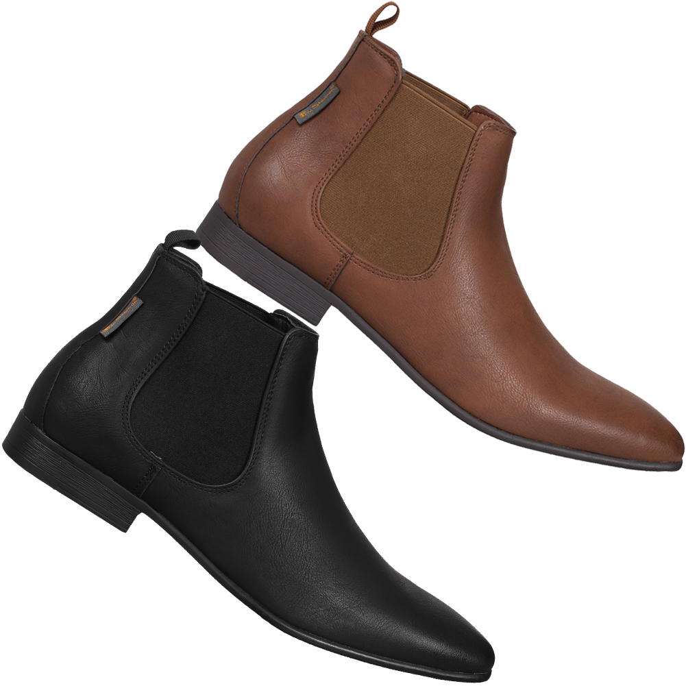 ben sherman ashorne fashion chelsea boots herren classic business schuhe boots ebay. Black Bedroom Furniture Sets. Home Design Ideas