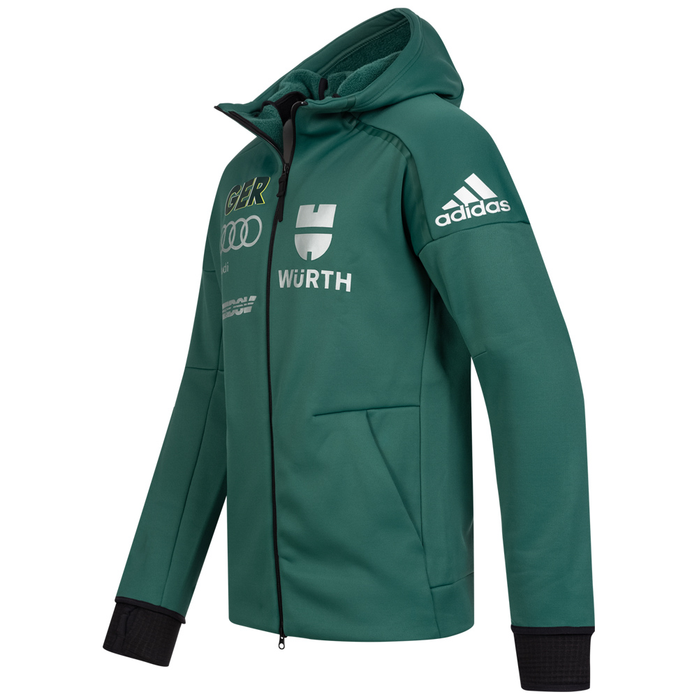 Details about Adidas DSV Deutscher Ski Verband Germany Climaheat Jacke Damen grau rot