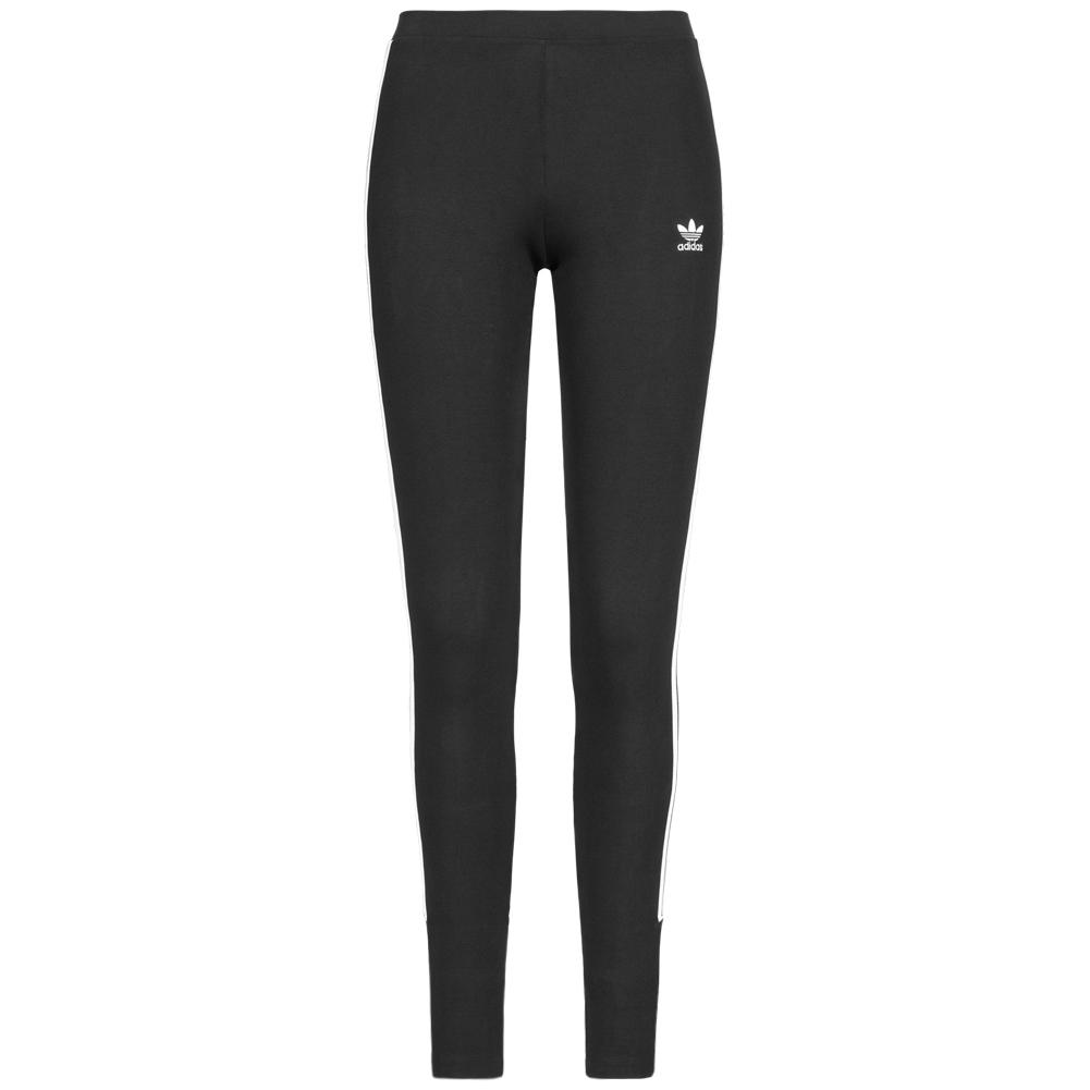 Details zu adidas Originals 3 Stripes Damen Leggings Sport Fitness Hose DT8713 schwarz neu