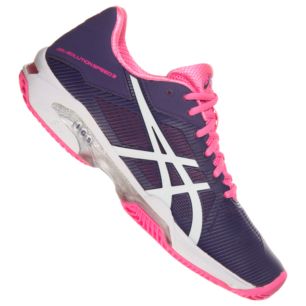 asics gel solution speed 3 clay damen tennisschuhe squash tennis schuhe e651n ebay. Black Bedroom Furniture Sets. Home Design Ideas