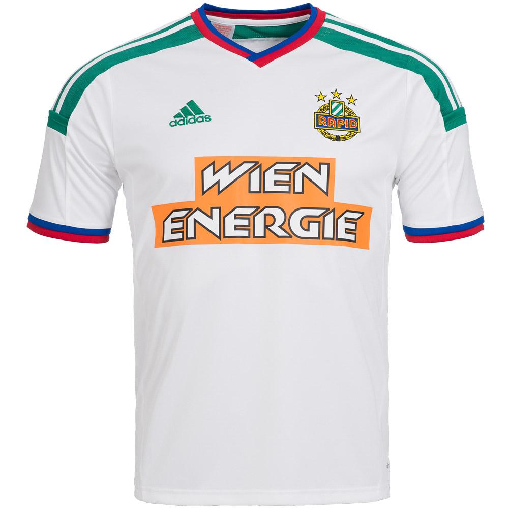 Rapid Wien adidas Kinder Auswärts Trikot Fan Sport Tee Shirt