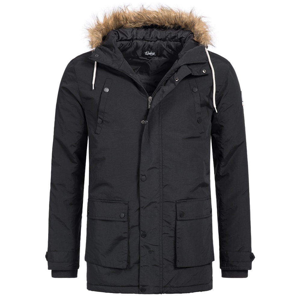 henleys informa winterjacke herren parka jacke s m l xl xxl schwarz oliv neu ebay. Black Bedroom Furniture Sets. Home Design Ideas