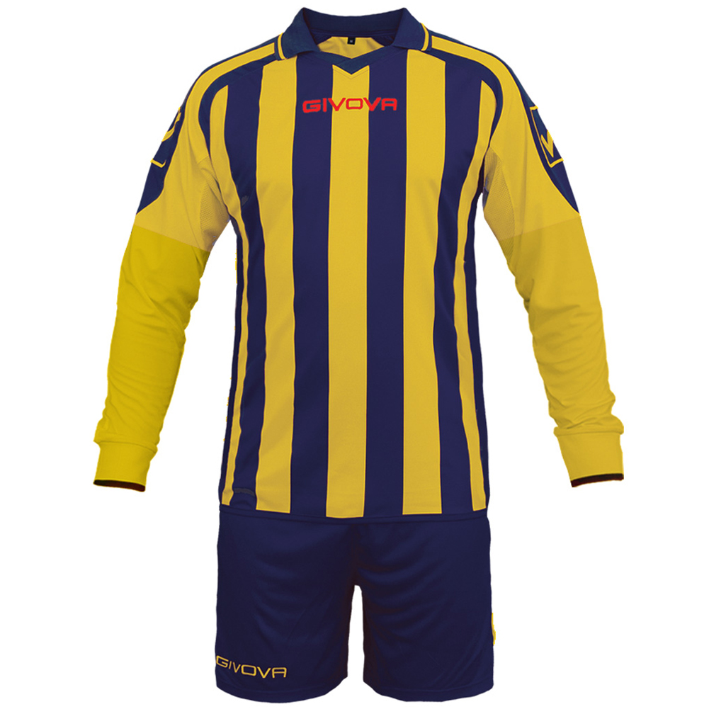 Details about Givova Kit Rumor Mens Football Set Long Sleeve Jersey + Short Kitc 25 Team Sport New show original title