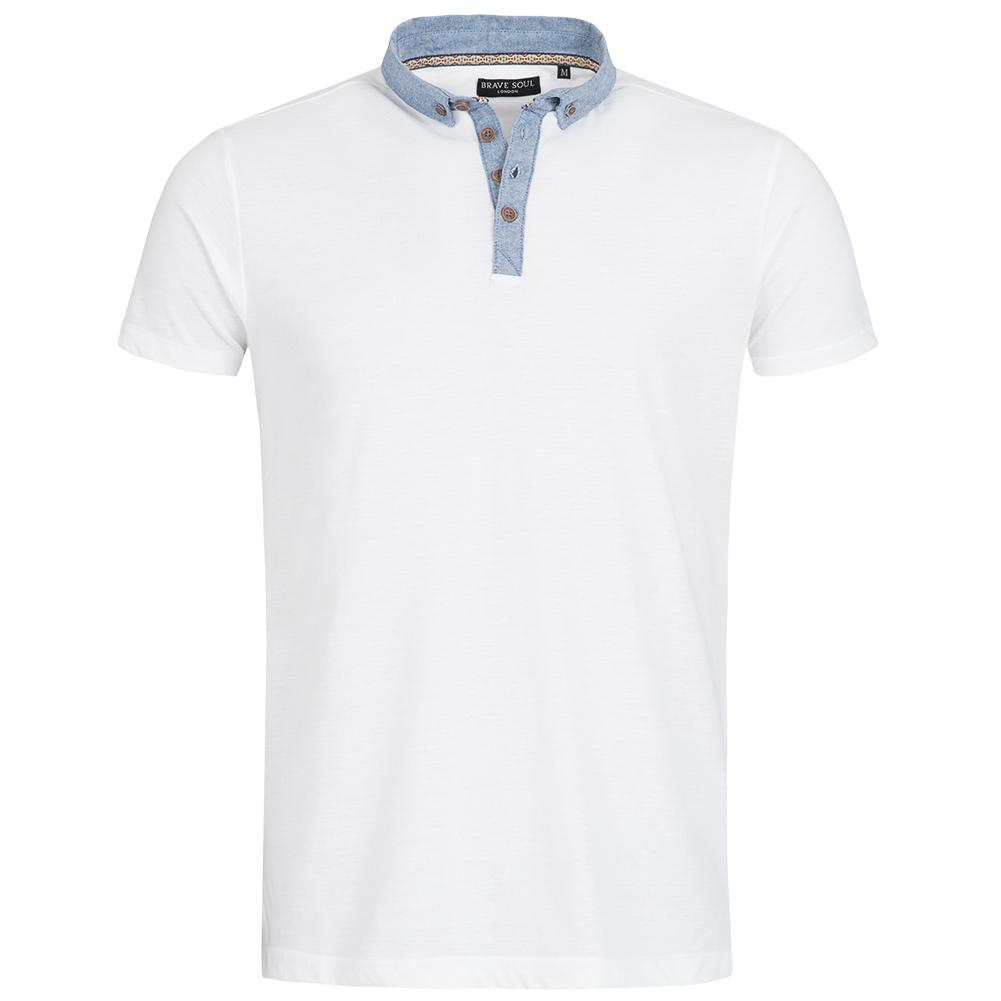 BRAVE-SOUL-London-Herren-Polo-Shirt-Polohemd-Poloshirt-Shirt-Freizeit-Kurzarm