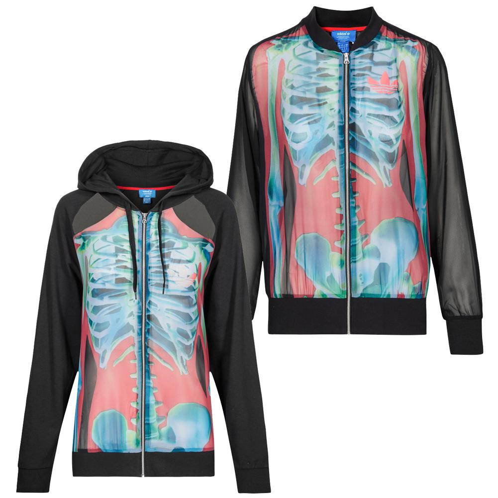 adidas Originals Rita Ora Damen Jacken Kapuze Full-Zip Hoody ... 3ecf53c6f5