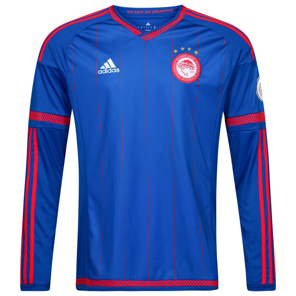 Olympiakos-Piraus-adidas-Herren-Trikot-Langarm-Kurzarm-Jersey-Fusball-Fan-neu