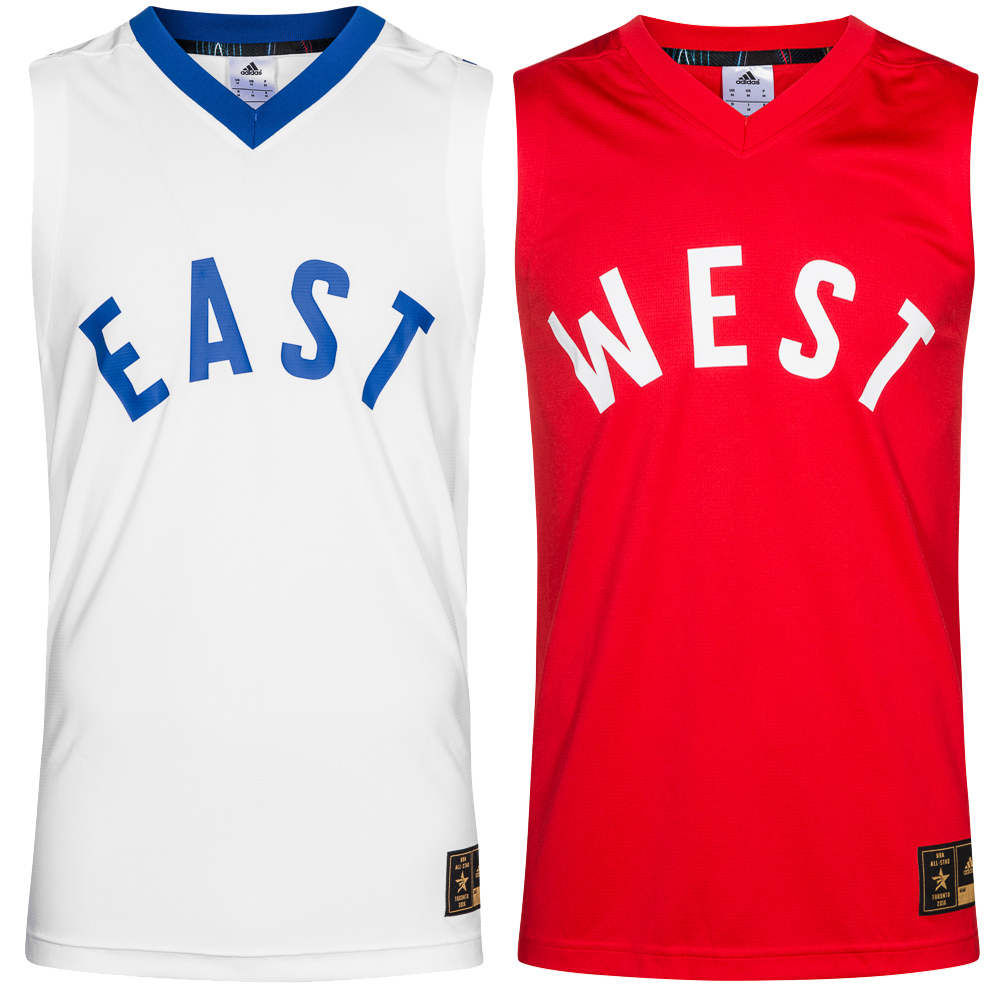 Détails sur Adidas All Star NBA Basketball Jersey Maillot Game Tank Top West East maillot NEUF afficher le titre d'origine