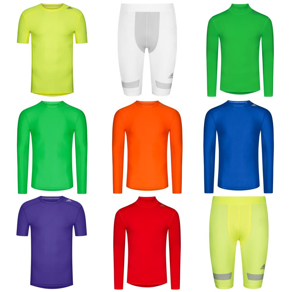 Details zu adidas Performance Techfit Chill Baselayer Funktionsshirt Compression Shirt neu