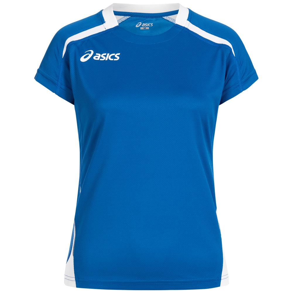 ASICS Merlene Damen Volleyball Fitness Sport Trikot weiß blau schwarz neu