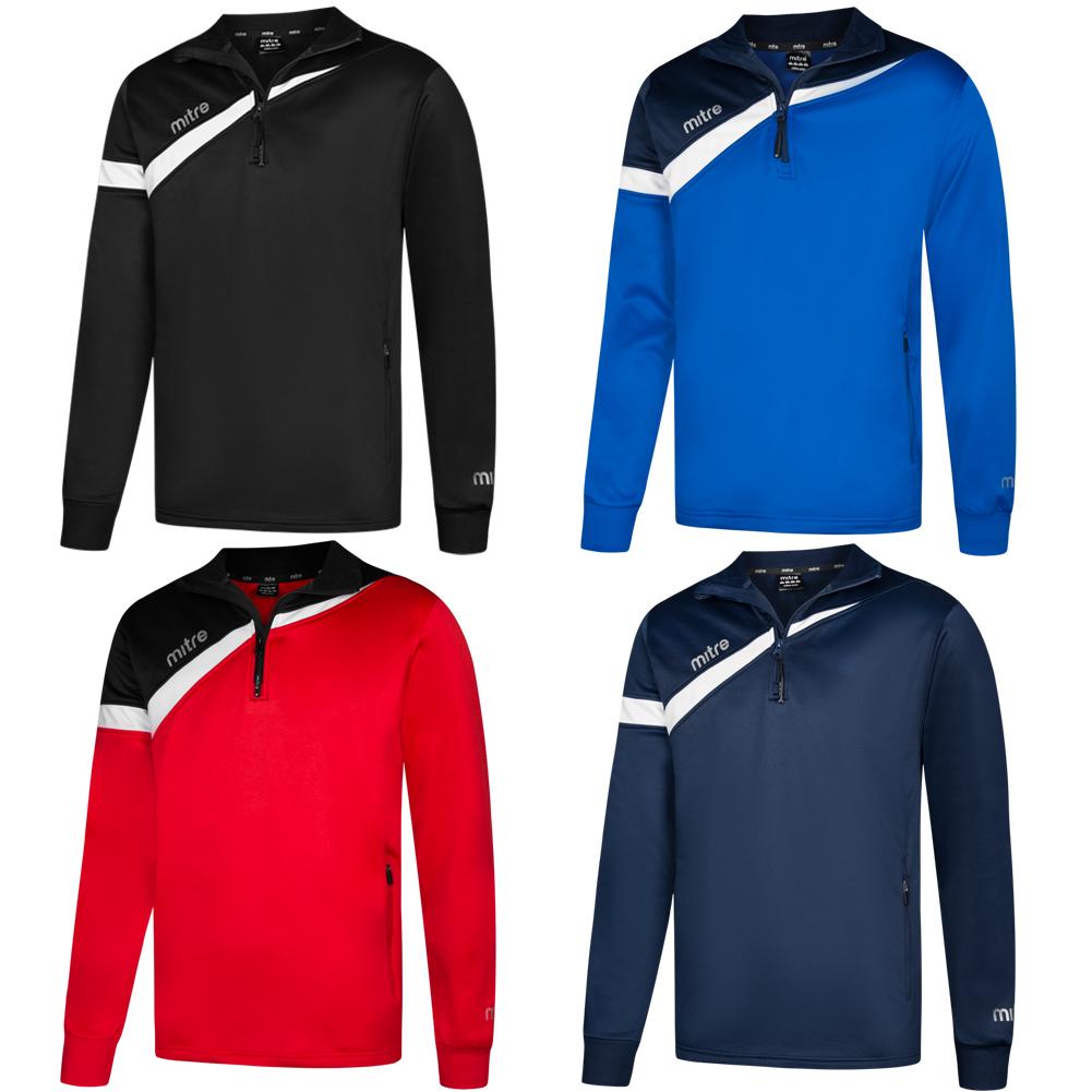 Details zu MITRE Polarize 14 Zip Herren Training Sweatshirt Fitness Sport Jacke T60011 neu