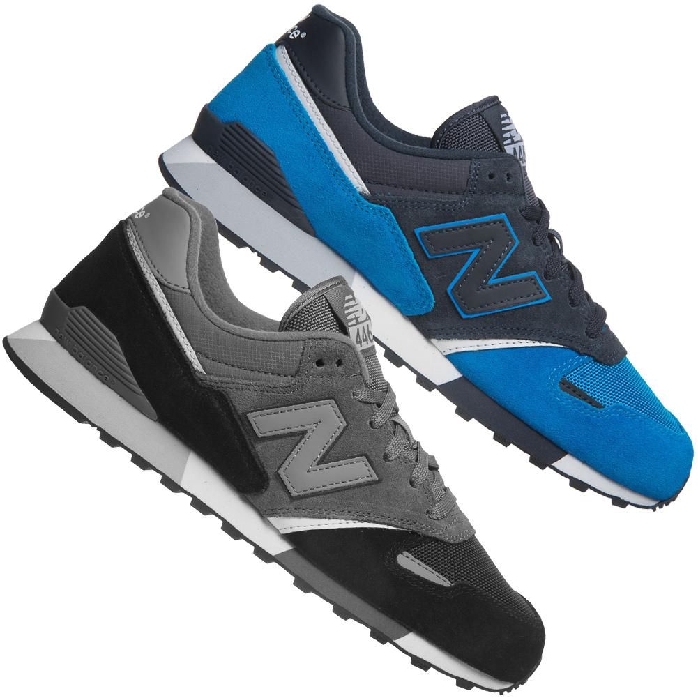 Details zu New Balance 446 80s Schuhe Running Sneaker Leder Schuhe blau schwarz NB Unisex