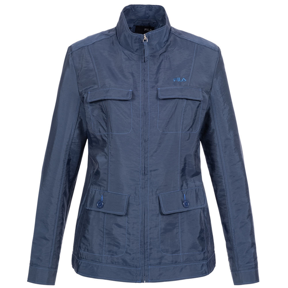 Details about Fila Ladies Retro Outdoor Rain Jacket Fashion Vintage Jacket U89920 491 Blue New