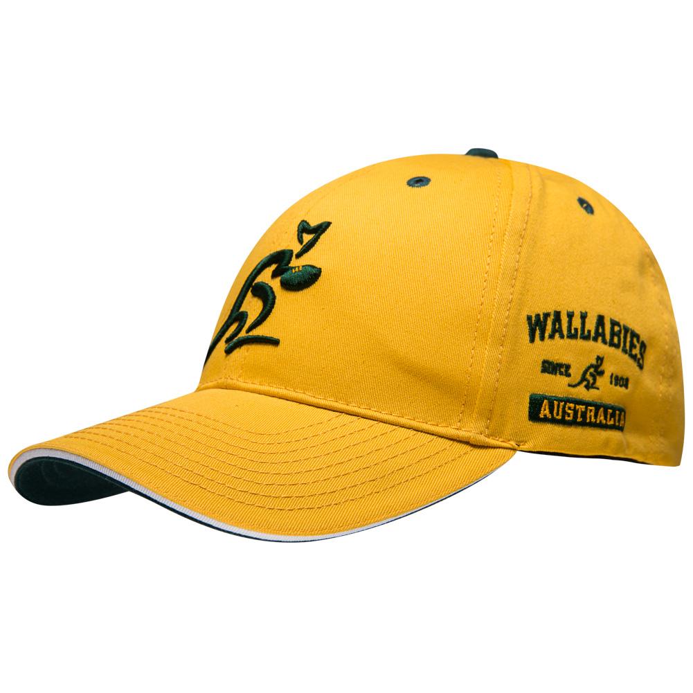 Australia Wallabies Asics Hat Rugby Suppertor Cap WASC1439-1002 New ... c0e09a92230