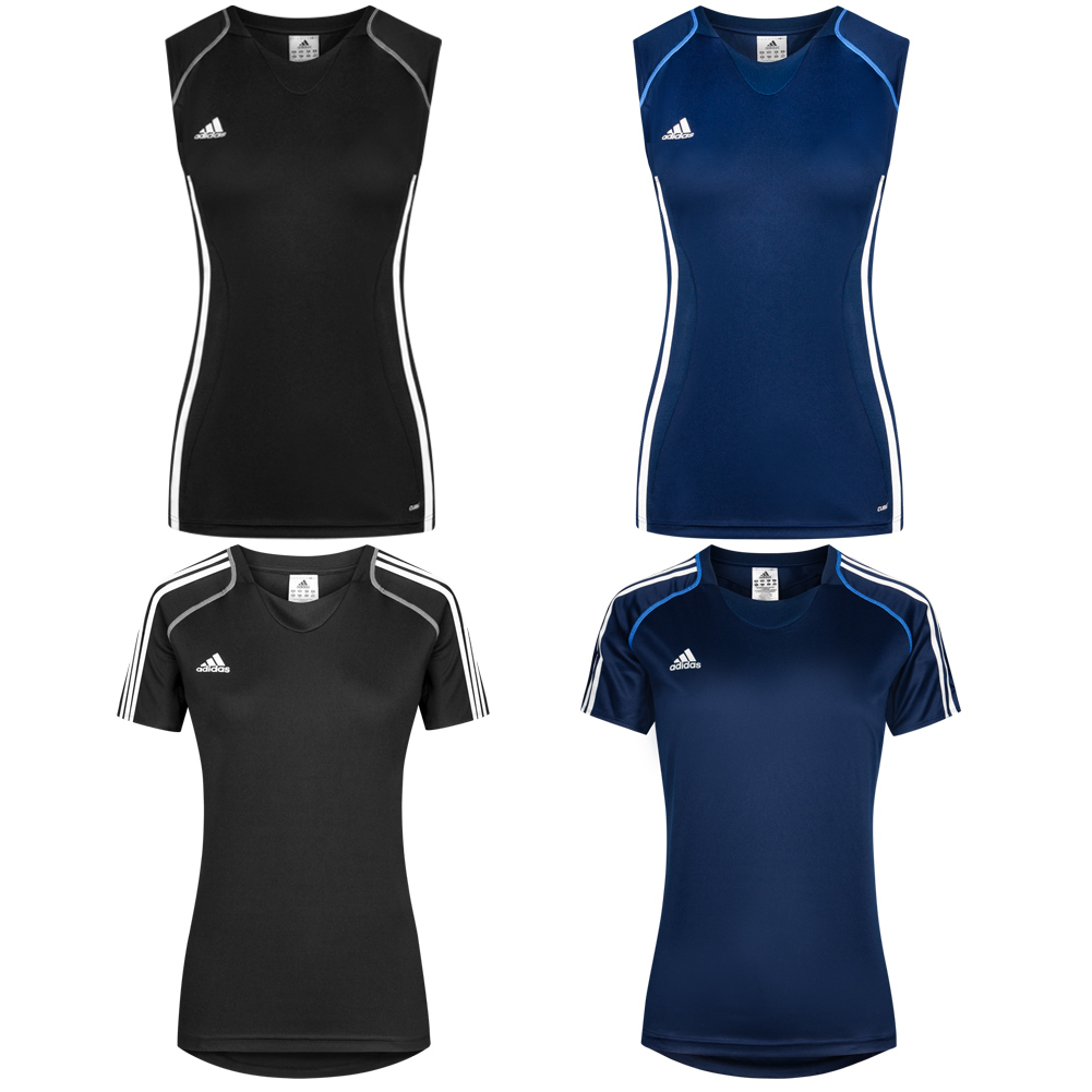 Details about Adidas T12 ClimaCool Ladies Sport Jersey Fitness Training Tee Shirt Top New show original title