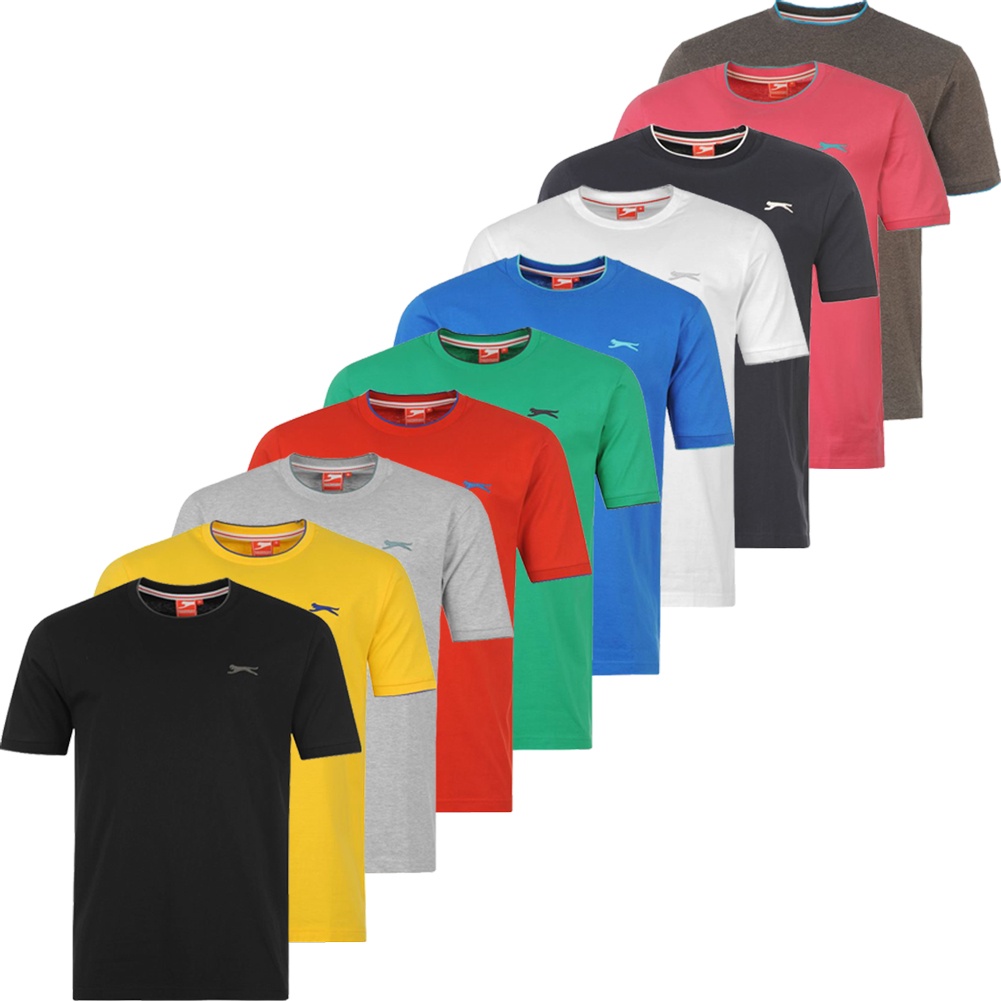 slazenger mens t shirt s m l xl 2xl 3xl 4xl for sports and casual ebay. Black Bedroom Furniture Sets. Home Design Ideas