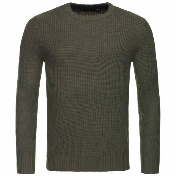 BRAVE SOUL Fulton Rib Detail Herren Sweatshirt MK-230FULTON Khaki