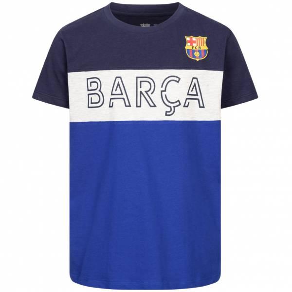 FC Barcelona Team Crest & Logo Jungen T-Shirt FCB-3-393B