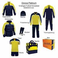 Givova Box Platinum Fußball Set 10-tlg. gelb/navy
