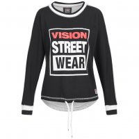 Vision Street Wear Damen Crew Neck Sweatshirt Sweat CL2713 black/grey marl
