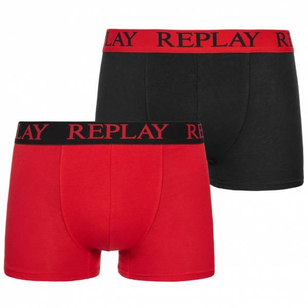 REPLAY Basic Boxer Herren Boxershorts 2er-Pack 101009-N093