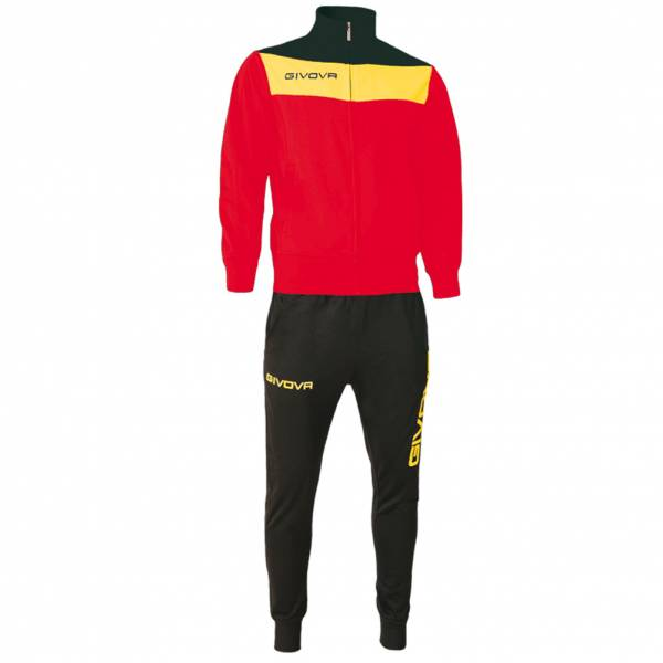 Givova Tuta Campo Tracksuit red / yellow