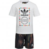 adidas Originals Pharrell Kleinkinder Set Shirt + Shorts 2 teilig AJ9309