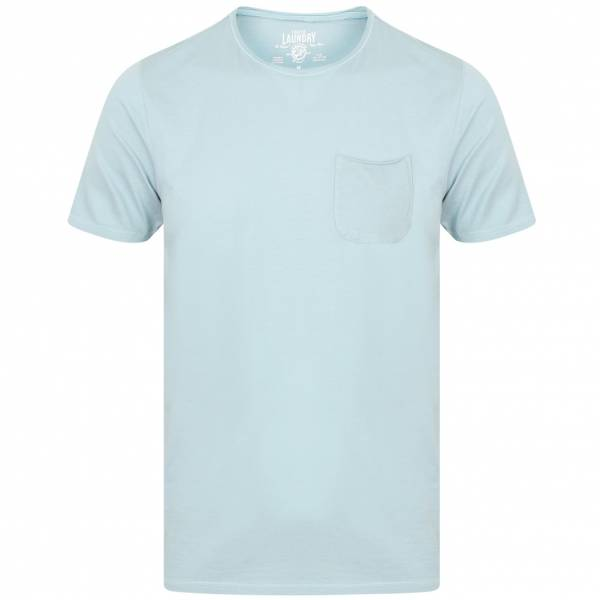 Tokyo Laundry Zac Crew Neck Pocket Herren T-Shirt 1C10666B Light Blue