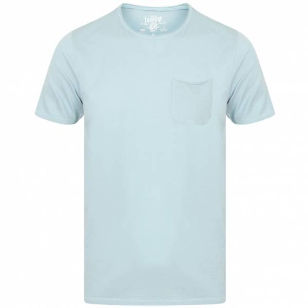 Tokyo Laundry Zac Crew Neck Pocket Hommes T-shirt 1C10666B Bleu clair
