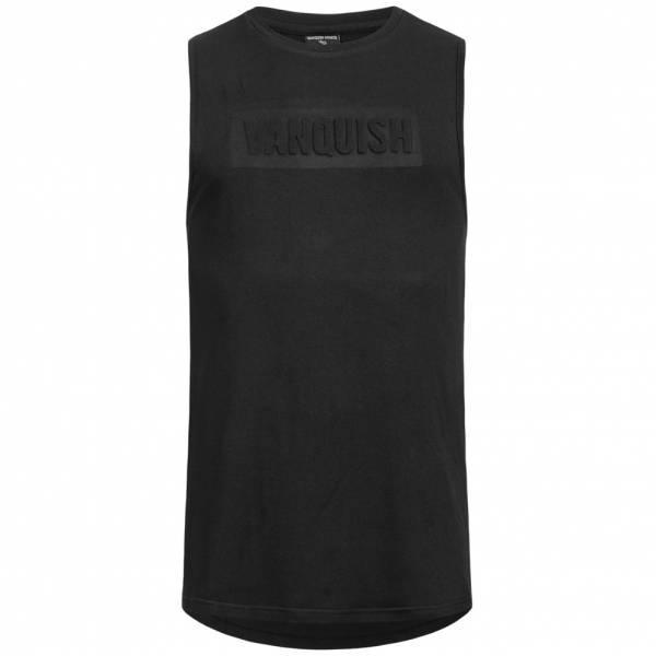 Vanquish Herren Fitness Panel Tank Top Shirt Black VA-TBL